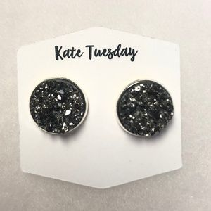 Druzy Stud Earrings - Brand New